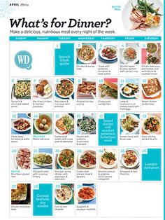 Meal Plan for a Month at a Time with Woman's Day