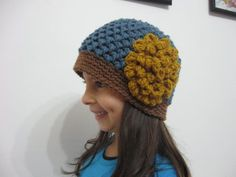 Butterfly Stitch Beanie - Free Crochet pattern and video tutorials for right and left handed - by Meladora's Creations