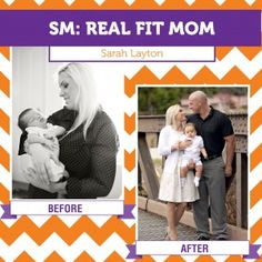 So excited to share this Real Fit Mom story of one of our mom bloggers who lost 60 pounds post-baby as a new mom and military wife!