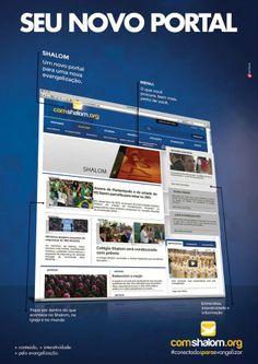 """""""comshalom.org"""" p Portal da Comunidade Católica Shalom que foi desenvolvido pela Agência Dominus"""