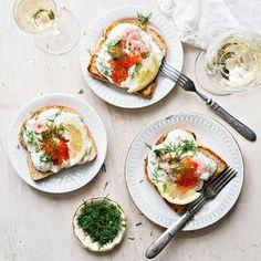 Prawn Toast Recipe, Shrimp Toast, Smoked Meat Recipes, Milk Recipes, How To Cook Shrimp, How To Cook Eggs, Grilled Vegetable Kabobs, Nordic Diet, Protein Mug Cakes