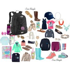 """All the back to school essentials"" by evaslagle on Polyvore"