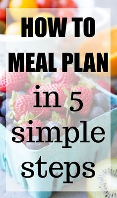 How to Meal Plan in 5 Simple Steps. Smart ideas to begin meal planning, eat healthy, and stress less! Easy Meal Prep, Healthy Meal Prep, Easy Healthy Recipes, Easy Meals, Healthy Eating, Healthy Suppers, Healthy Foods, Clean Eating, Butternut Soup