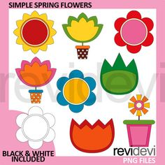 80 off sale clipart and paper bundle retro spring by revidevi retro spring by revidevi spring inspirations clipart craft printable pinterest filing papers retro and spring mightylinksfo