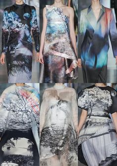 London Fashion Week – Autumn/Winter 2013 – Print & Pattern Highlights – Part 2 catwalks  #prints