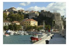 Gorgeous fishing port marking the entrance of the Bay of Kotor and Forte Mare Herceg Novi