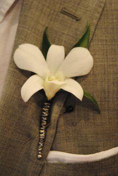 A simple Dendrobium Orchid Boutonniere Corsage Wedding, Wedding Bouquets, Orchid Boutonniere, Dendrobium Orchids, Wedding 2015, Bridal Flowers, Wedding Inspiration, Wedding Ideas, Flower Arrangements