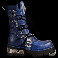 New Rock Alaska Blue Boots (373-C32)