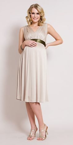 Champagne Maternity Gown (Short)
