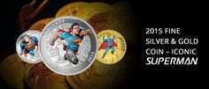 New Numismatics Fine Silver & Gold Coins - Iconic Superman Collection....!!