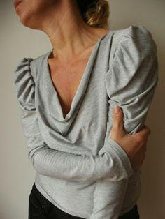 Rhonda's Creative Life: Sleeves On Saturdays - how to draft a leg-o-mutton sleeve