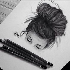 Girl with a messy bun