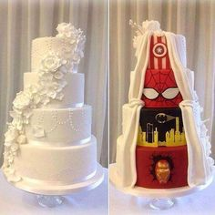 This is a really cute idea for a wedding cake! I'm totally going to do this!!