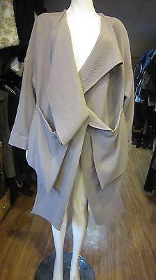 Authentic Kedem Sasson Grey Wool Jacket Coat