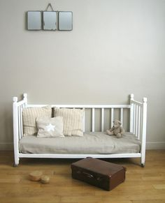 Recycle a baby crib into a toddler reading spot! Genious.