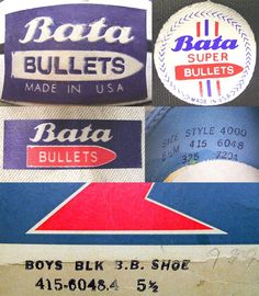 1970's Bata Bullets Basketball Shoes Logo #batashoes