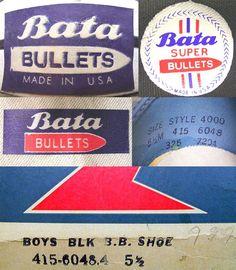 1970's Bata Bullets Basketball Shoes Logo #batashoes