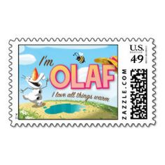 I'm Olaf, I Love All Things Warm Postage Stamps