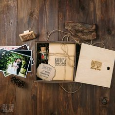 Our wedding photography package for client. Wood box. - bartoshphoto.com