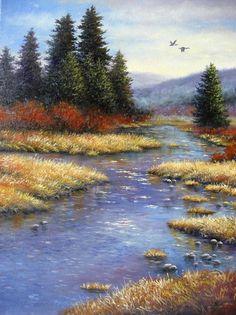 Amber Afternoon2 Original Oil Painting  by VickieWadeFineArt, $145.00