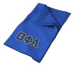 Theta Phi Alpha Lettered Twill Sweatshirt Blanket Tall from GreekGear.com