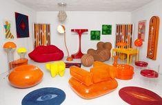 Ce Week End Rennes Accueille Le Salon Du Vintage Funky Furniture, Furniture Decor, Furniture Design, Retro Interior Design, 70s Home Decor, Dream Rooms, Cool Rooms, Room Inspiration, Interior Architecture