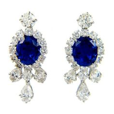 Jewels / HARRY WINSTON Sapphire Diamond Platinum Earrings ❤ liked on Polyvore featuring jewelry, earrings, accessories, brincos, jewel earrings, sapphire diamond earrings, sapphire jewelry, jewels jewelry and platinum earrings