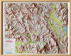 Siena Province Raised Relief Map