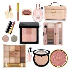 """#Rose_gold #nude #make_up"" by christy-vfashion on Polyvore featuring beauty, Tory Burch, Chanel, Sephora Collection, Milani, Bobbi Brown Cosmetics, Viktor & Rolf, River Island and Bloomingville"