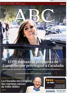 Los Titulares y Portadas de Noticias Destacadas Españolas del 8 de Octubre de 2013 del Diario ABC ¿Que le pareció esta Portada de este Diario Español?