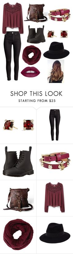 """""""Untitled #107"""" by pinguinqueen ❤ liked on Polyvore featuring David Yurman, Dr. Martens, Dsquared2, Campomaggi, MANGO, BCBGMAXAZRIA, Maison Michel, women's clothing, women and female"""