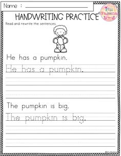 Free Handwriting Practice. This product has 5 pages of handwriting worksheets. This product will teach children reading and writing simple sentences. Children will read, trace and rewrite sentences. This product is great for Kindergarten or first graders. You can use as a classroom activities, morning work, word work and literacy centers. Kindergarten | First Grade |Second Grade |Reading| Writing |Handwriting Practice | Alphabet Letters |Printables| Morning Work | homework| Free Lessons