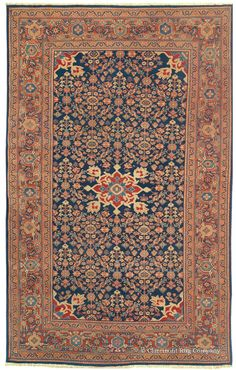 FERAHAN, West Central Persian 4ft 1in x 6ft 7in Late 19th Century