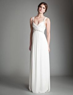 Greek wedding dress with Grecian draping
