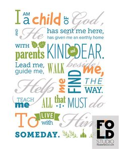 I am a Child of God 8x10 subway art by FrontOfLineDesign on Etsy, $8.00