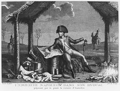 Jean Baptiste Verzy - Bivouac of Emperor Napoleon I planning the victory of Austerlitz