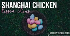 A fun egg shakers game to practice new rhythms with the song Shanghai Chicken. Plus free rhythm and composition worksheets to go along with it .