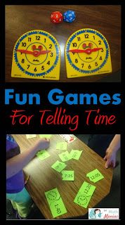 The Elementary Math Maniac: Common Core Standards for telling time and a fun game to help your students get there!