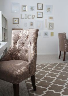 Style at Home   A Look at LICP HQ laqaur desk want and chairs TJ Maxx!