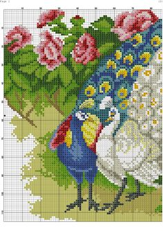 VK is the largest European social network with more than 100 million active users. Cross Stitch Bird, Cross Stitch Designs, Cross Stitching, Cross Stitch Patterns, Yo Yo Quilt, Beading Patterns Free, American Flag, Needlework, Birds