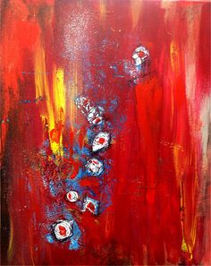 Original Abstract Painting Acrylic Mixed Media by Annie Gagné