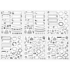 37,73 руб6 Листов DIY Календарь Фотобумага Стикер детские Игрушки Подарочные Наклейки Черный купить на AliExpress