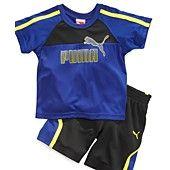 Puma Baby Set, Baby Boys Two-Piece Logo Tee and Shorts