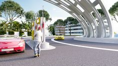 Exterior - Conceptual CNG Filling Station - Exterior - Venom Studio