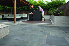 Marshalls Fairstone Slate Casarta Stylish, oversized Brazilian Slate is available in three large format sizes to give a clean contemporary feel which blends flawlessly with any garden environment. Buy online at www.pavingonline.co.uk