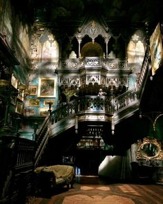"""""""The amazing sets of Allerdale hall. Build by the great team of Tom Sanders. The first day i step in the house i was freaking out! All was there build for…"""""""