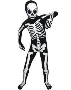 Skeleton Suit Black /& White 8 Piece Men/'s Costume Suit With Bone Screen Print