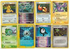 Pokemon lot of 8 cards WITH RARES ALL PICTURED Not Perfect with Dragonite