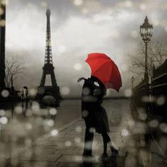 Paris Romance Print by Kate Carrigan at Art.com