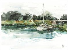 Sketching the Florida Intracoastal: Part Two – the Paintings